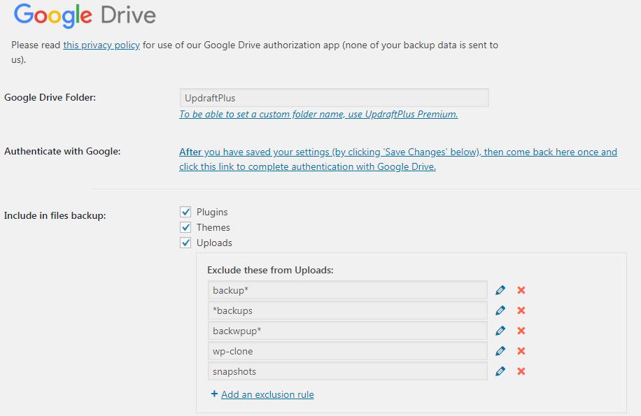 ตั้งค่า GoogleDrive
